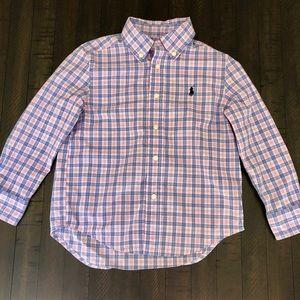 Ralph Lauren Polo Boys Plaid Button Down Shirt 4T